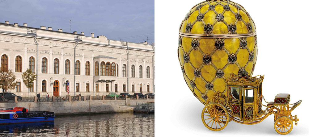 Faberge Museum in the city centre and The Coronation egg