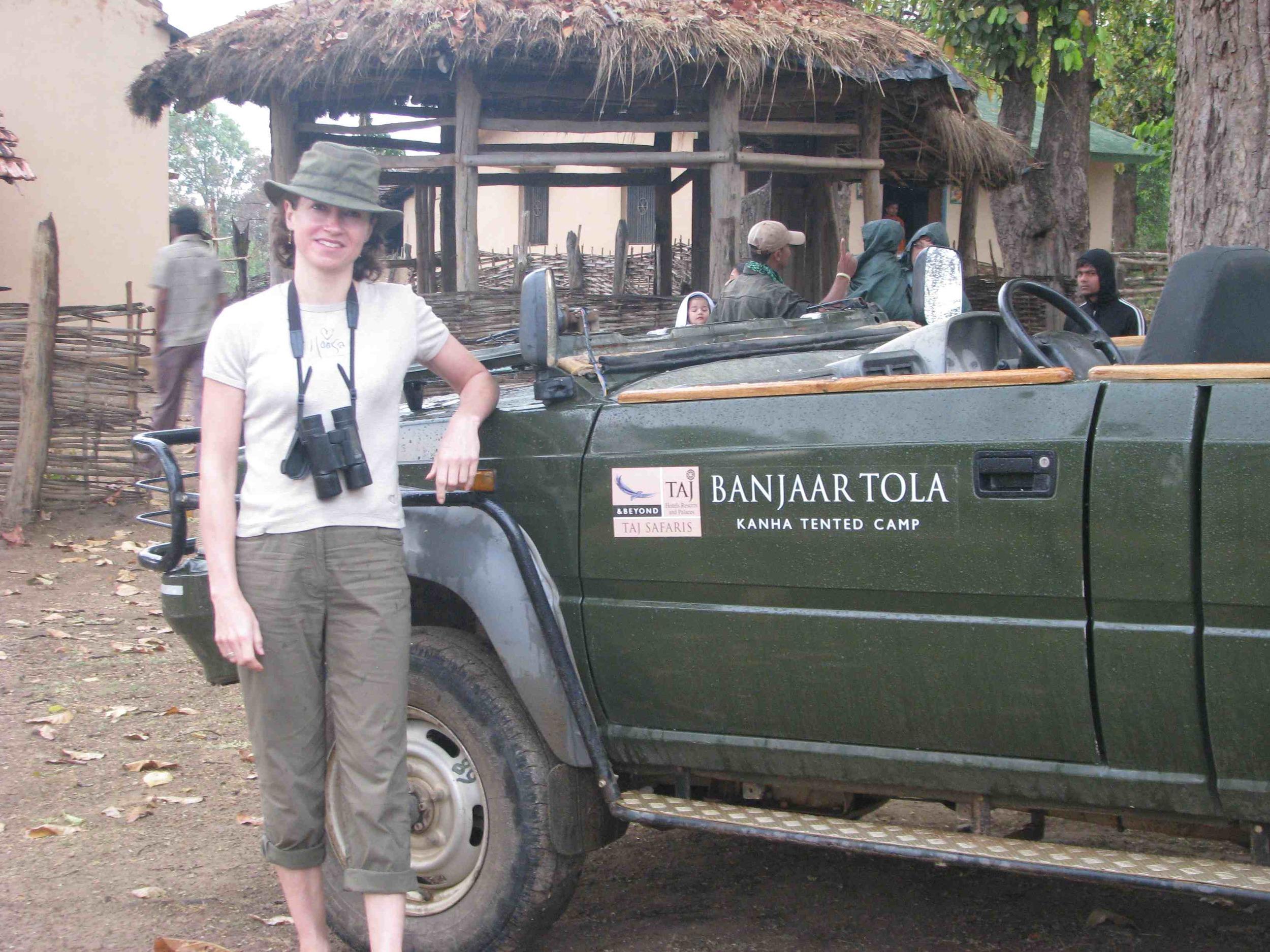 Laura on safari in Central India