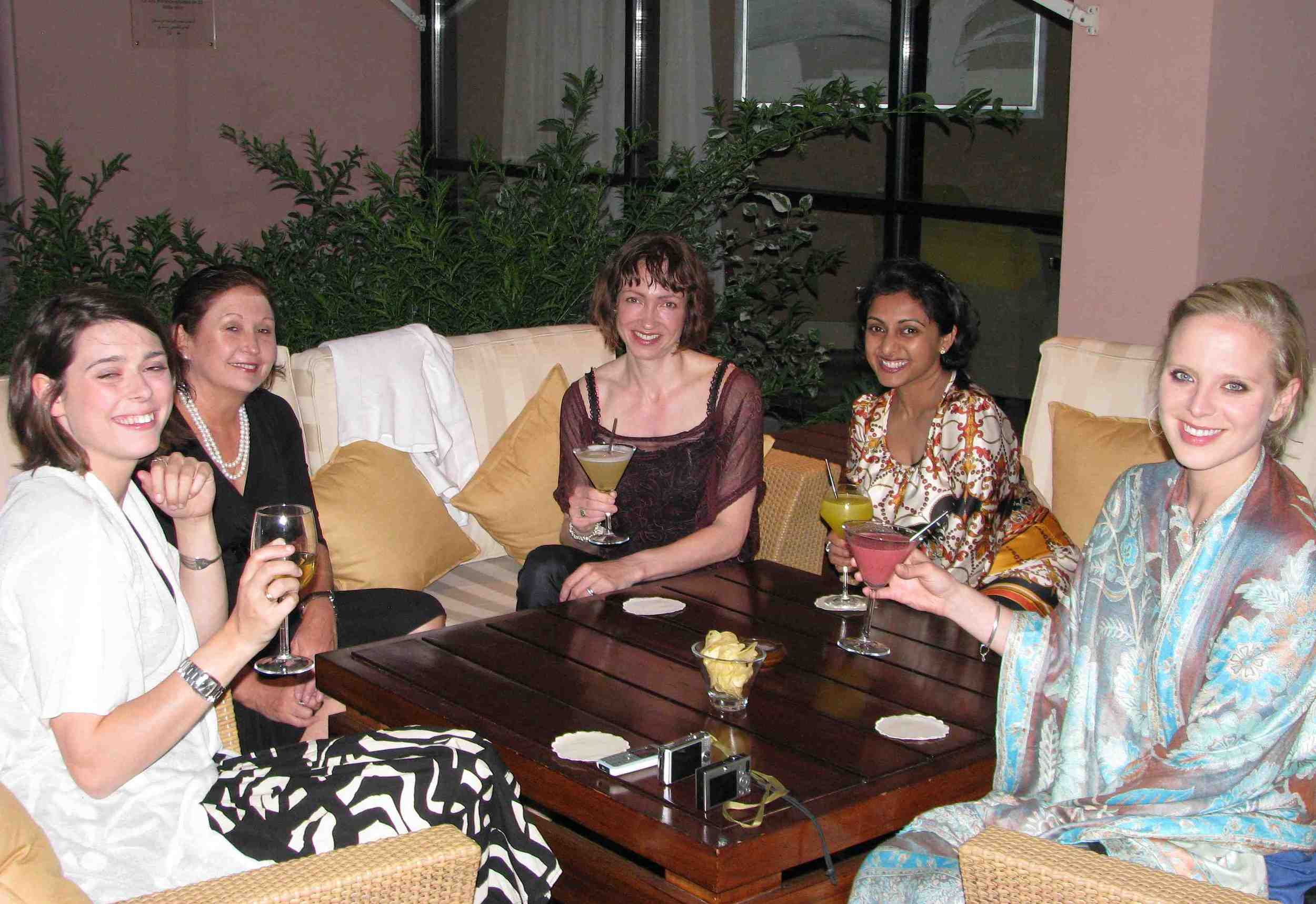 L/R: Olivia Graham, Sue Ryan, Laura Ivill, and far right Lucy Cleland at the Sofitel el gezirah