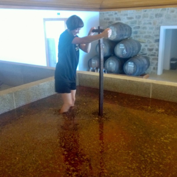 Foot treading the grapes from the late September harvest in the stunning Douro Valley @SixSensesDouroValley @VeryPCC