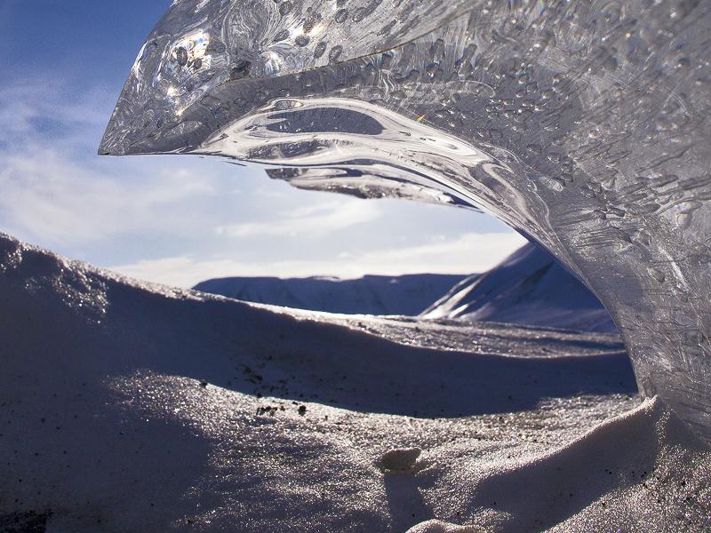 Ice on Svalbard