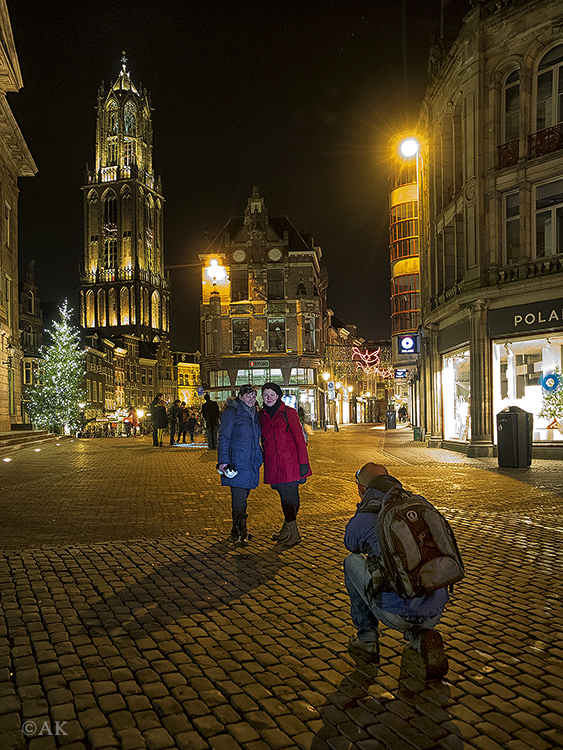 Photographing tourists in Utrecht