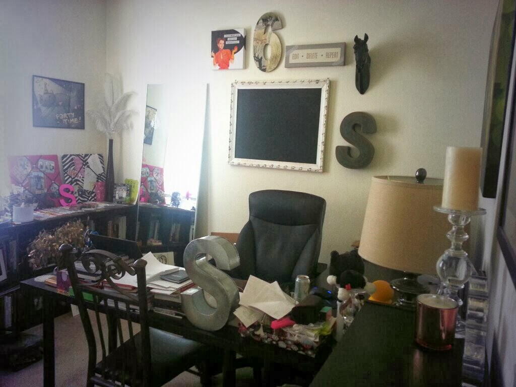 My home office. I may or may not be obsessed with the first letter of my name.