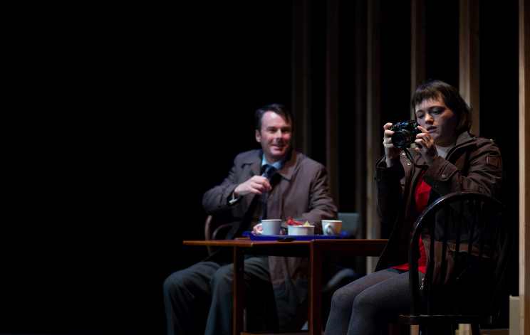 Clive Moore as Simon and Jennifer Tan as Marnie in In Doggerland . Photo by Devin Ainslie.
