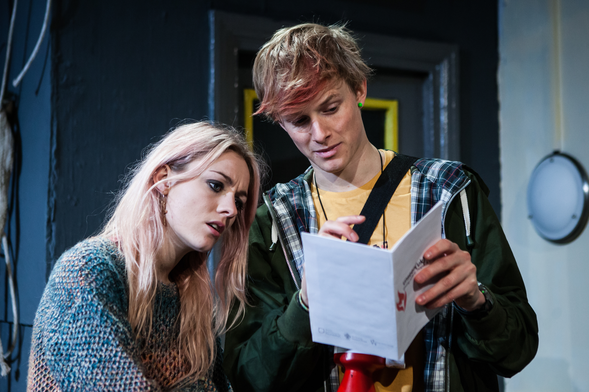 Skye Lourie as Maggie and Harry Lister Smith as Kiph in  Everyday Maps for Everyday Use.  Photo by Richard Davenport.