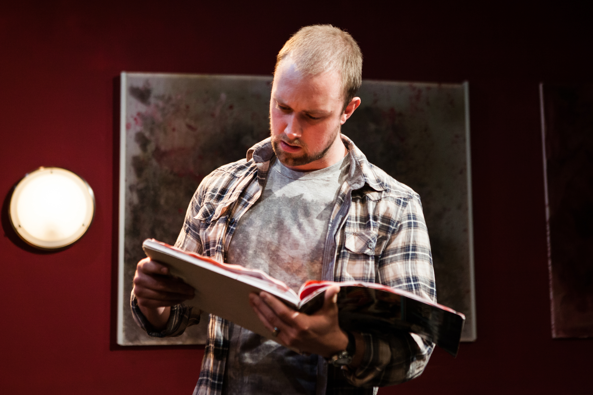 Michael Shelford as John in Everyday Maps for Everyday Use. Photo by Richard Davenport.