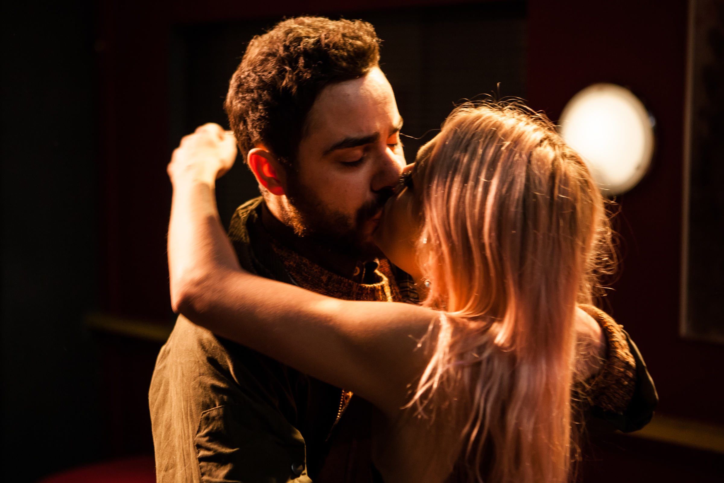Moncef Mansur as Behrooz and Skye Lourie as Maggie in Everyday Maps for Everyday Use. Photo by Richard Davenport.