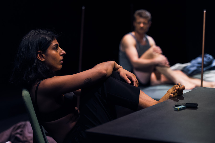 Lena Kaur as Clare and Thomas Magnusson as Fritjof / photo by Topher McGrillis