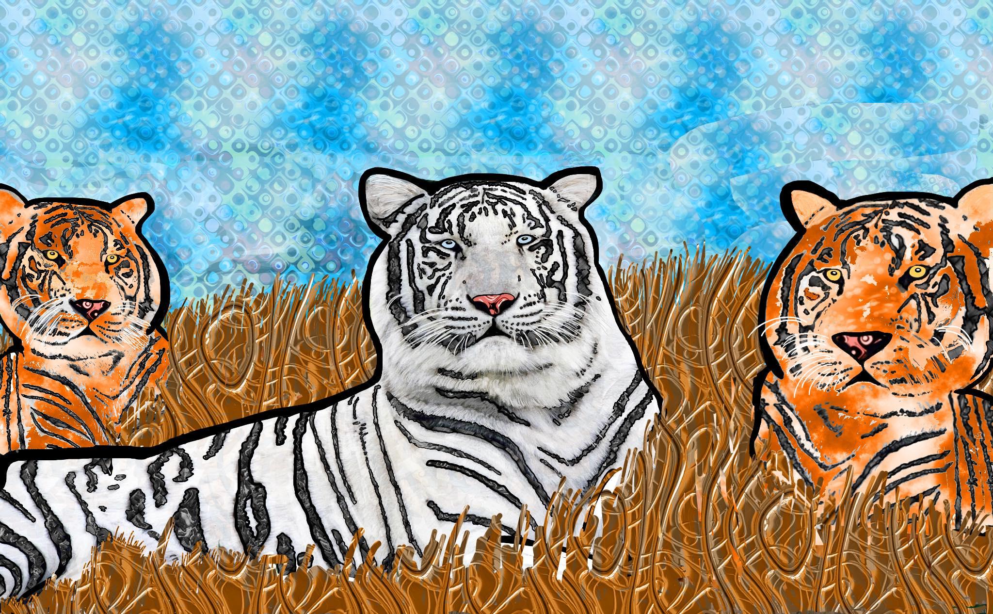 """Wise White Tiger"" from Deborah Katz's Rare Is Everywhere"