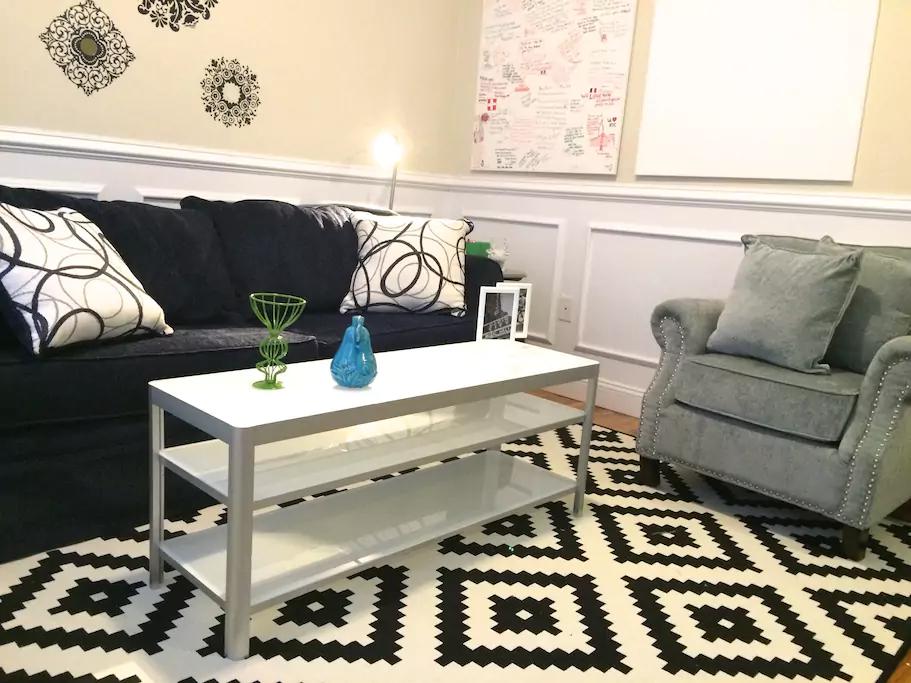 13 Living room has a full size sofa bed with a super comfy gel mattress.png