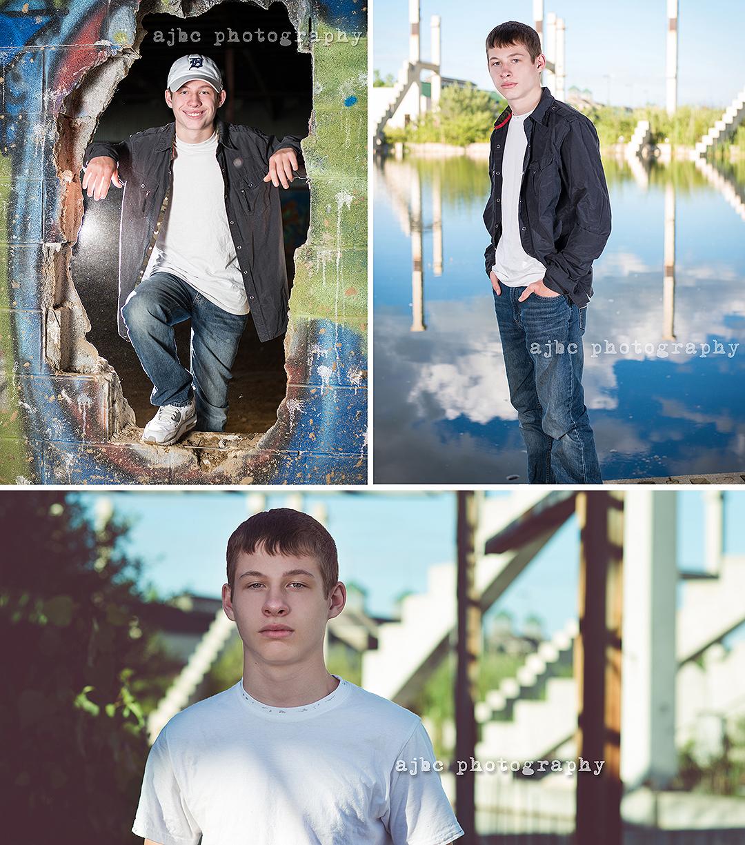 AJBC Photography teenager boy Port Huron Michigan Photographer graffiti creative portraits