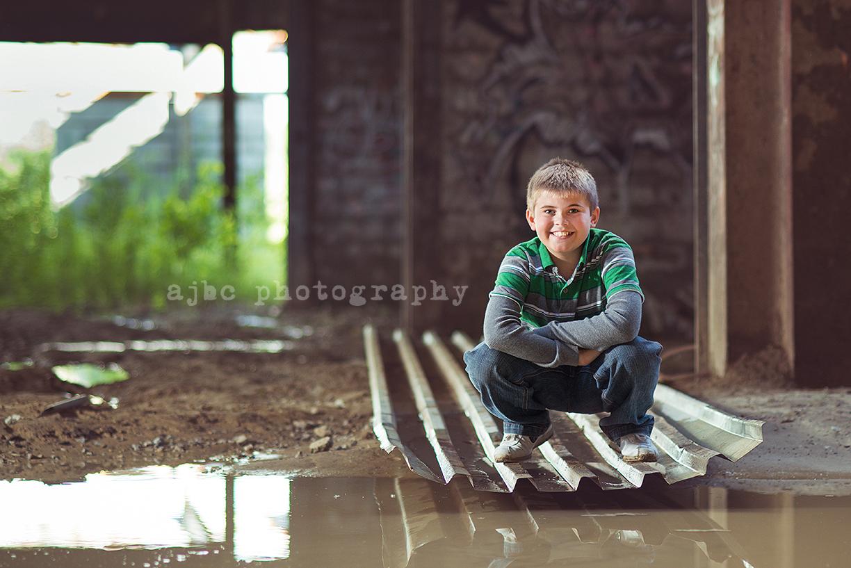 AJBC Photography boy Port Huron Michigan Photographer graffiti water creative portraits