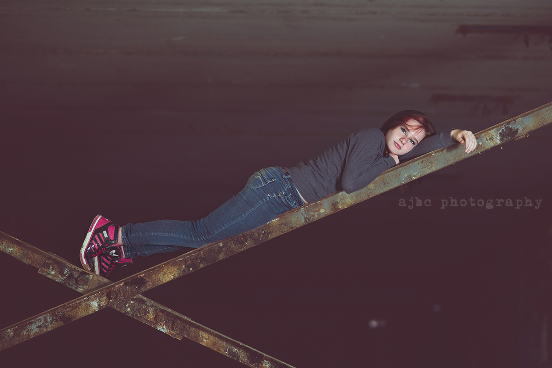 AJBC Photography teenager girl Port Huron Michigan Photographer graffiti water creative portraits