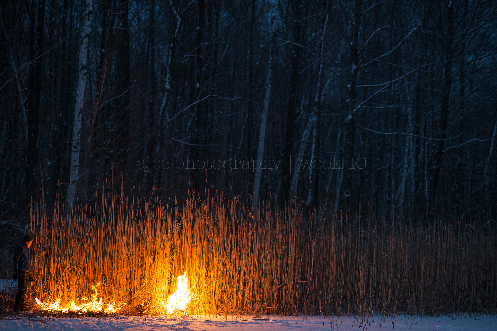 country pond photographer photography documentary fire