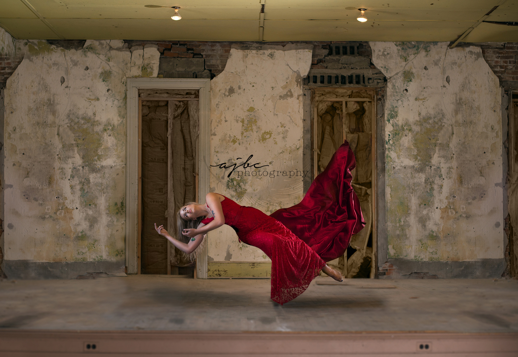 Before and After Photoshop Work Levitation Photography Editing