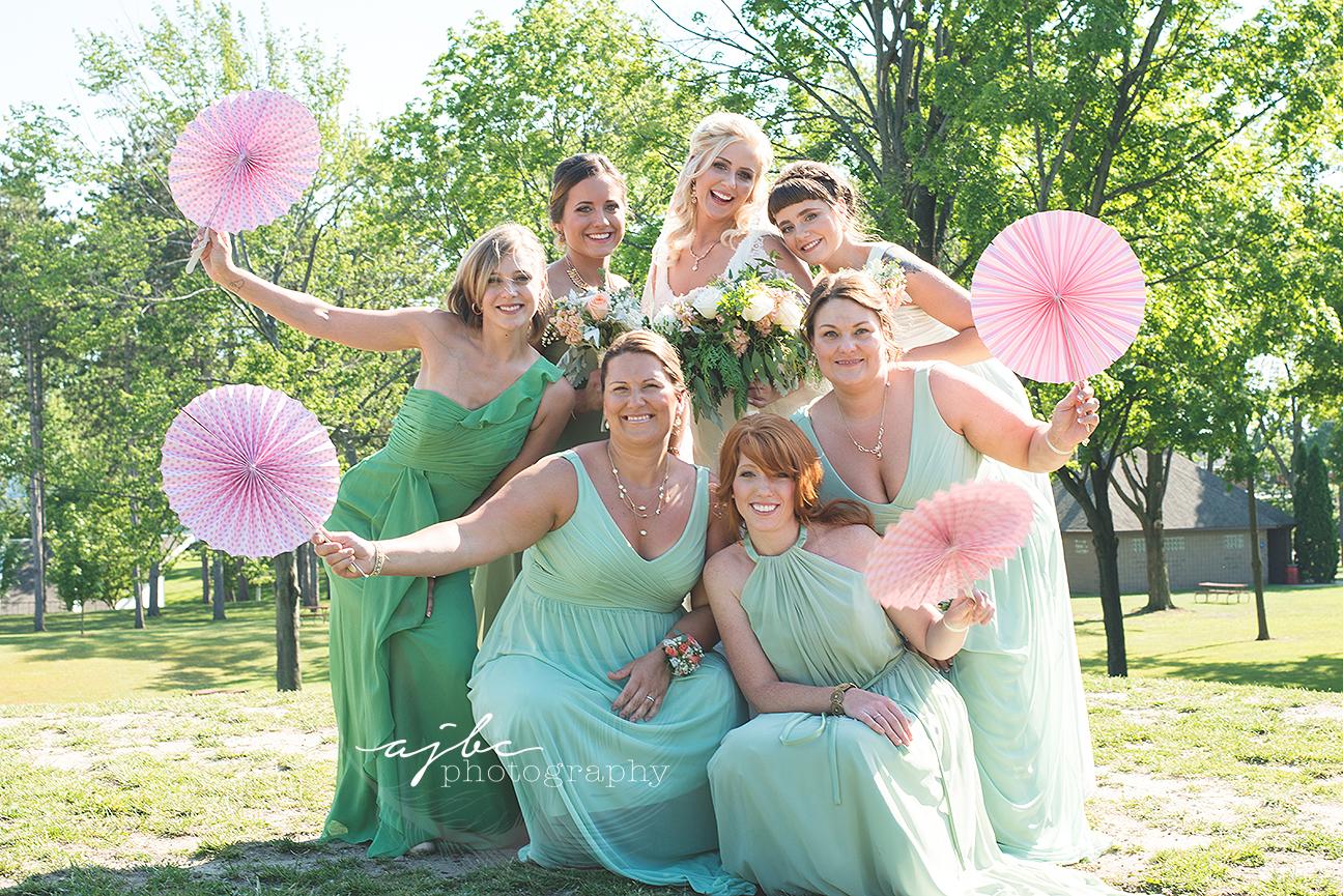 michigan summer wedding cute bridesmaid photos.jpg