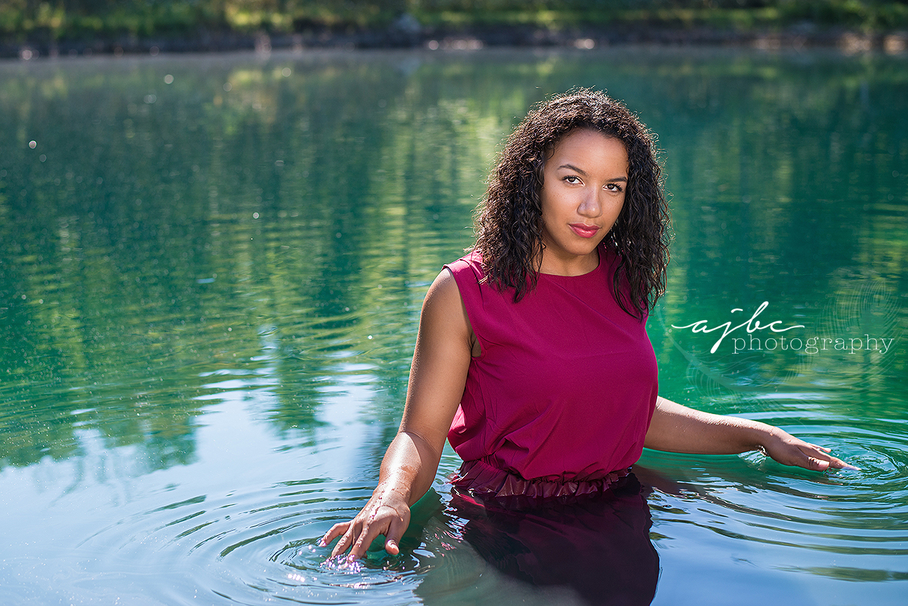 beauty in the water red dress outdoor photoshoot michian photographer.jpg