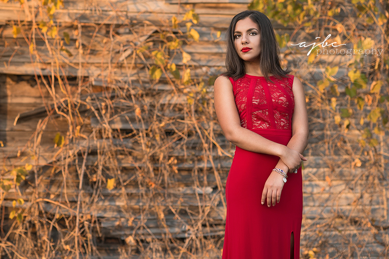 michigan senior photographer old hollywood glam red dress red lips senior fashion senior beauty senior shoot in abandoned barn.jpg