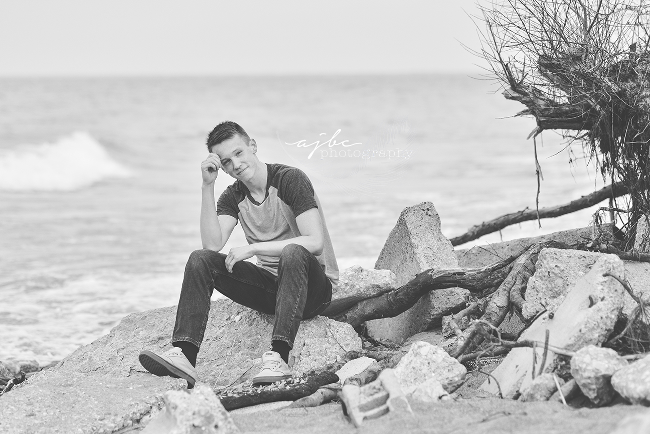 port huron michigan senior boy photographer fort gratiot beach candid photos.jpg