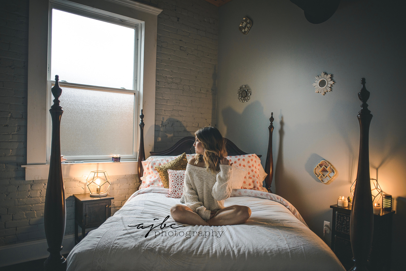 Sexy at home boudoir lifestyle photography