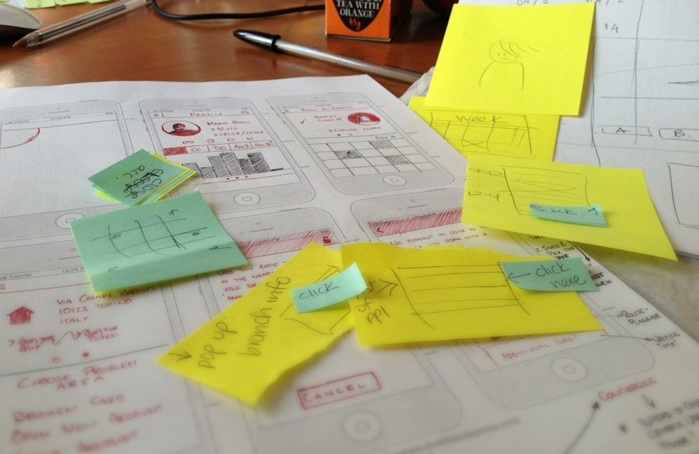 UI Design: first paper prototypes