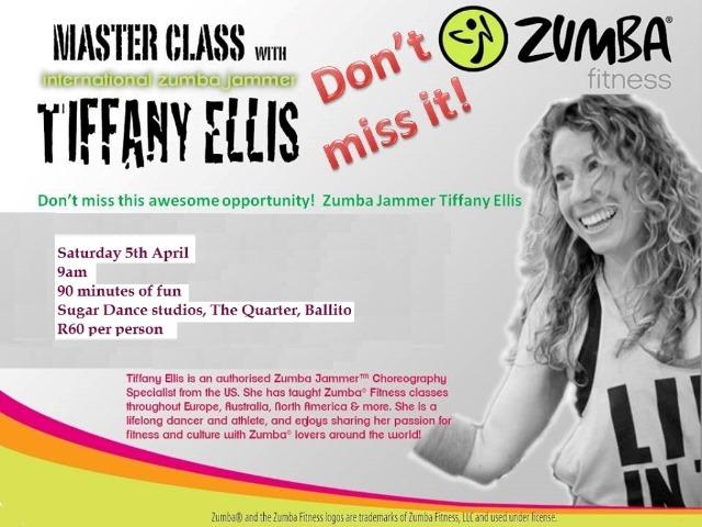 Zumba Master class with Tiffany Ellis   Sugar Dance Studio   Zumba Ballito