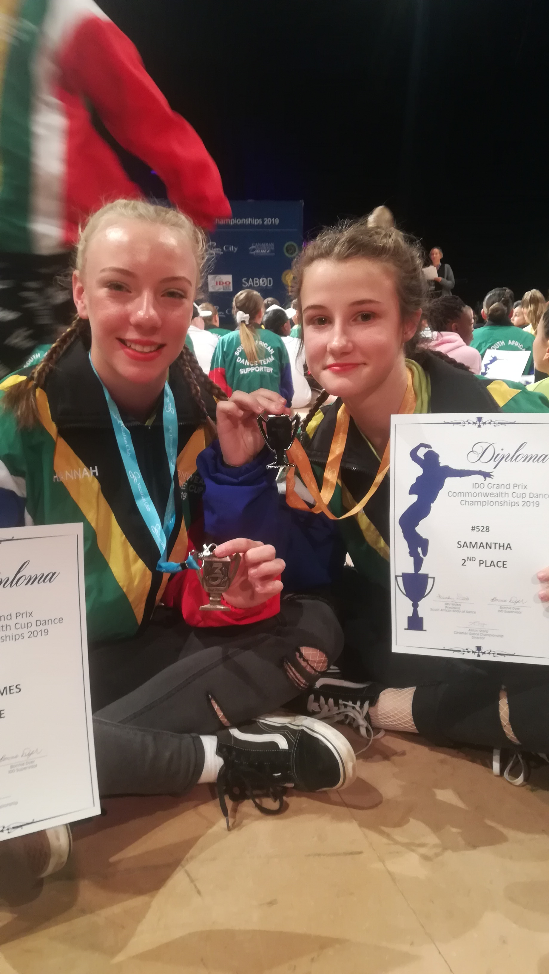 Hannah - 3rd place for her Street Dance Show solo  Sam - 2nd place for her Street Dance Show solo