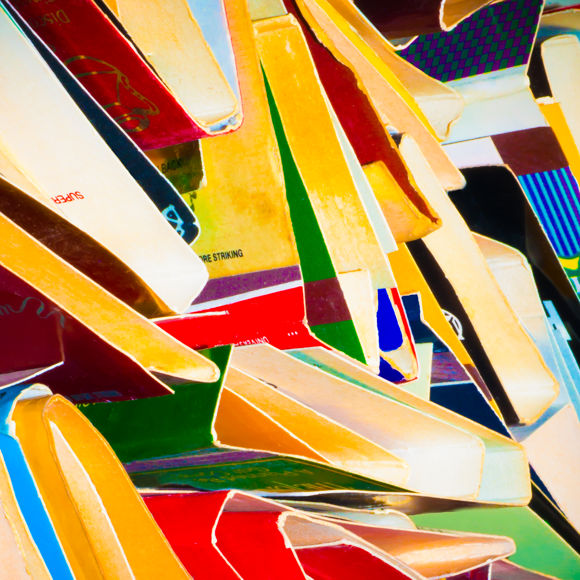 Super Striking   Dye sublimation on aluminum  20 x 20 inches  2015  © Rosalie Rosenthal