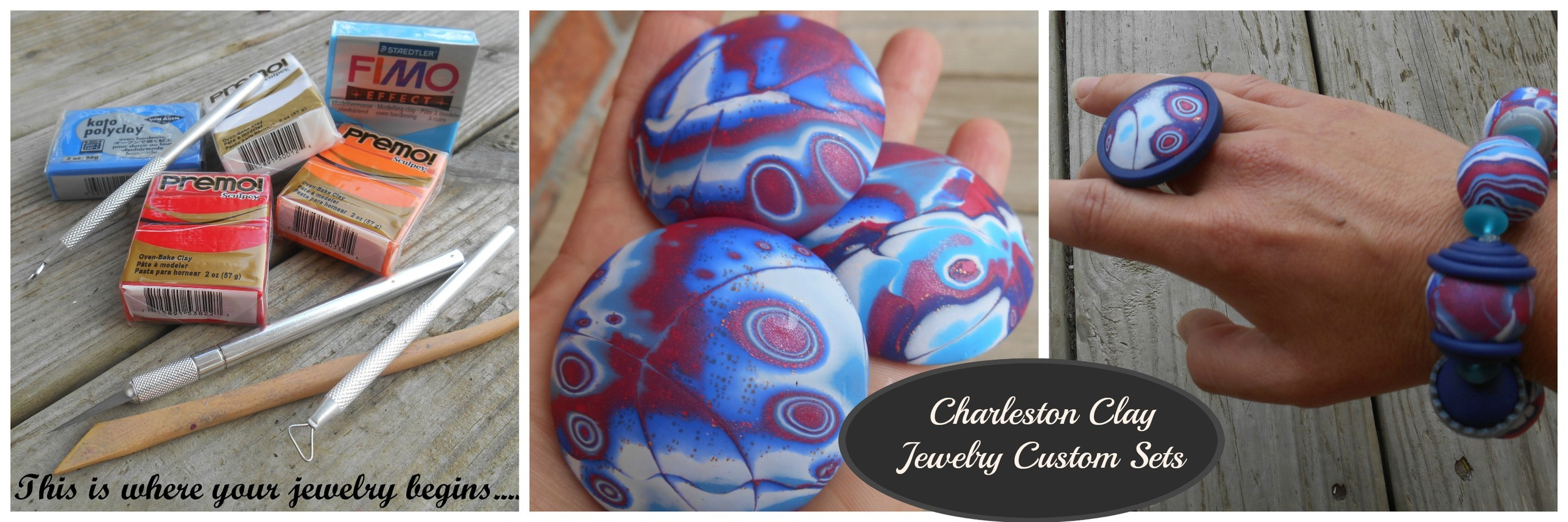 The journey begins with beautiful and colorful blocks of polymer clay!