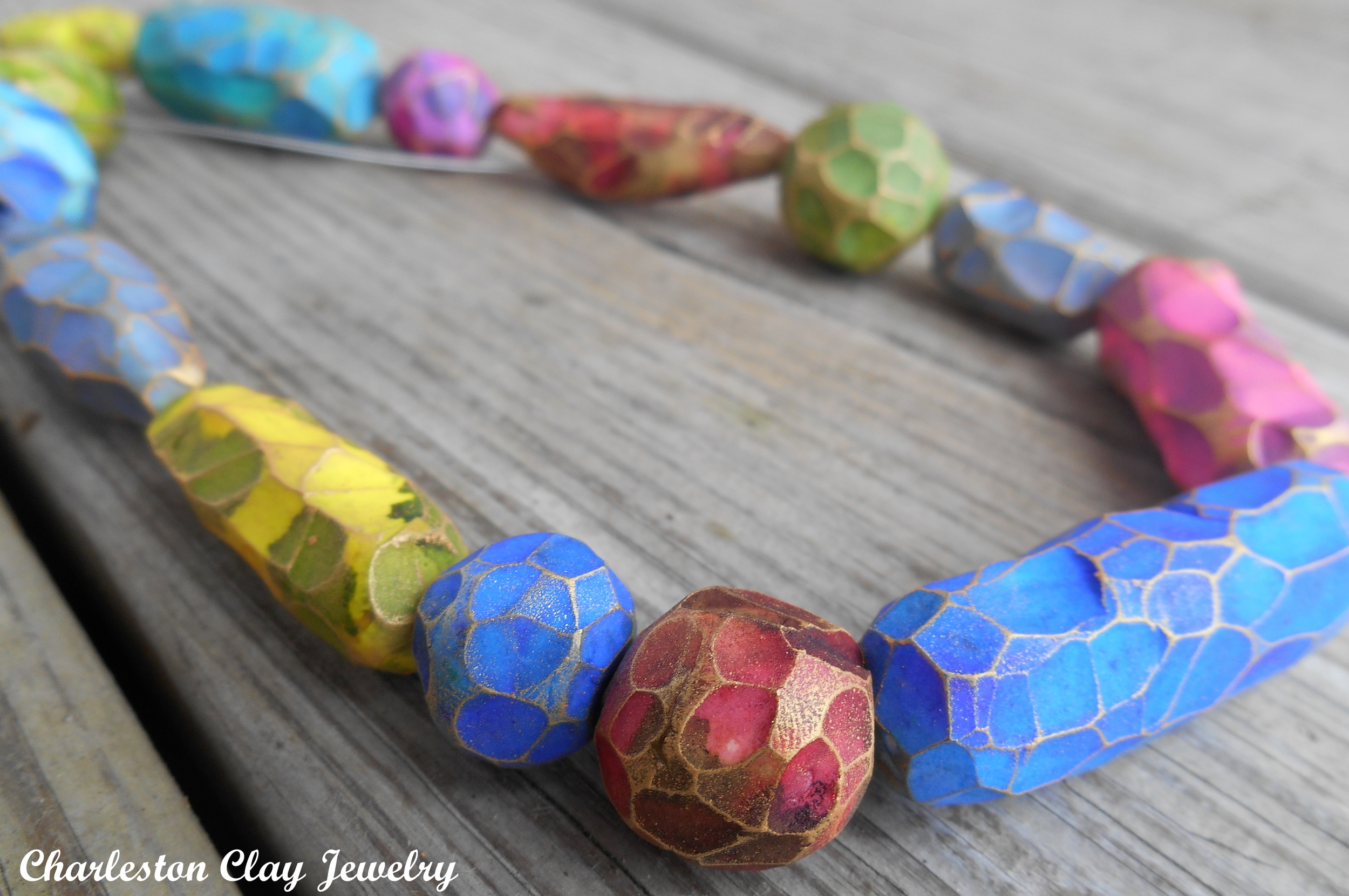 The Light Within Beads!  A burst of color that glows, paired with the rugged facets of hand carving.