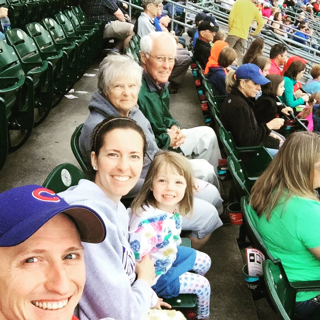 My mom has spent the better part of the last 10 years taking care of her parents and with Grandma's passing last fall, Mom got to spend her first full summer here in Iowa since Gerard has known me! She got to watch Laidy's swim lessons, we caught an ICubs game. Dinners out and spending quality time together has been a highlight of the summer!