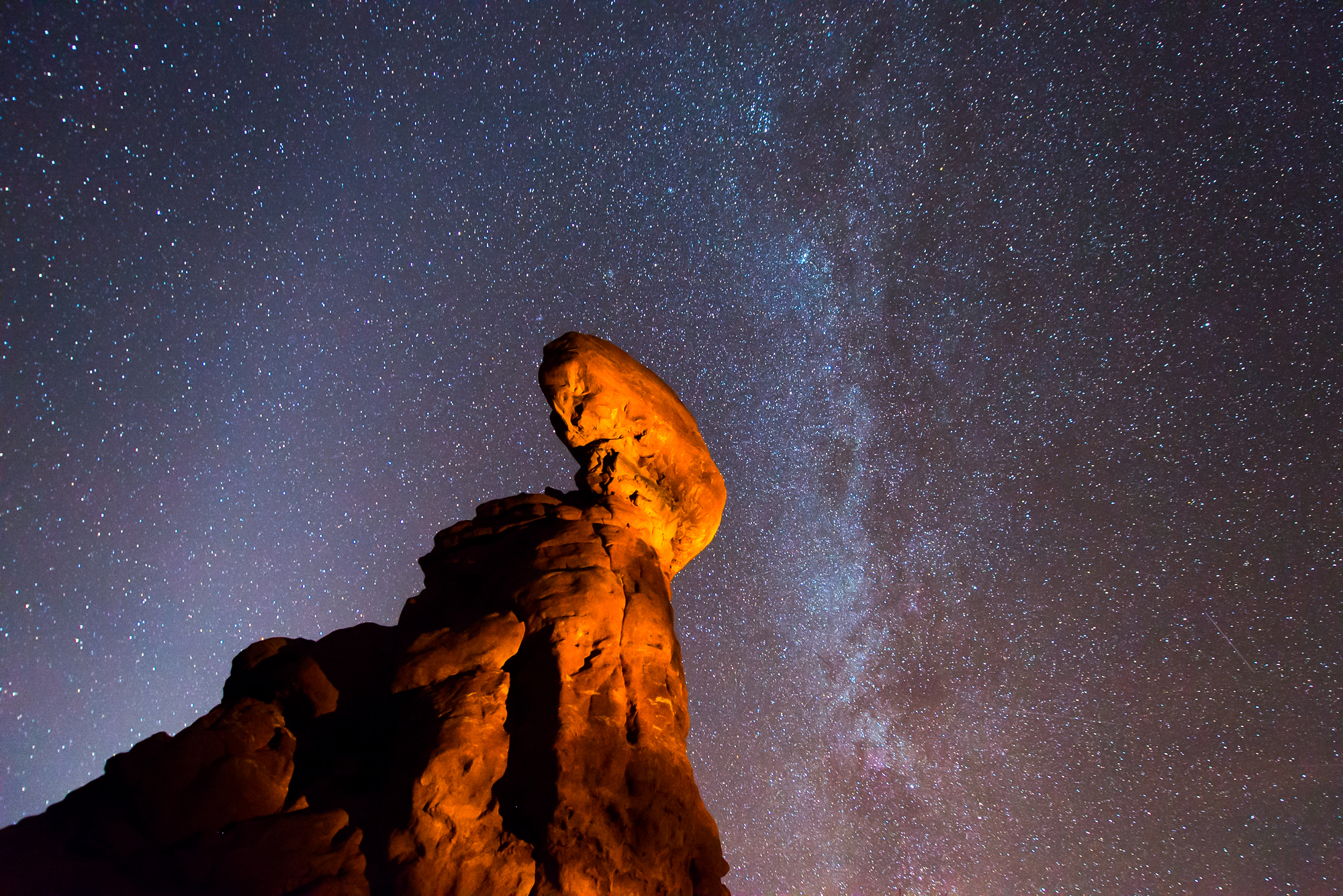 Balanced Rock and the Milky Way, Arches National Park