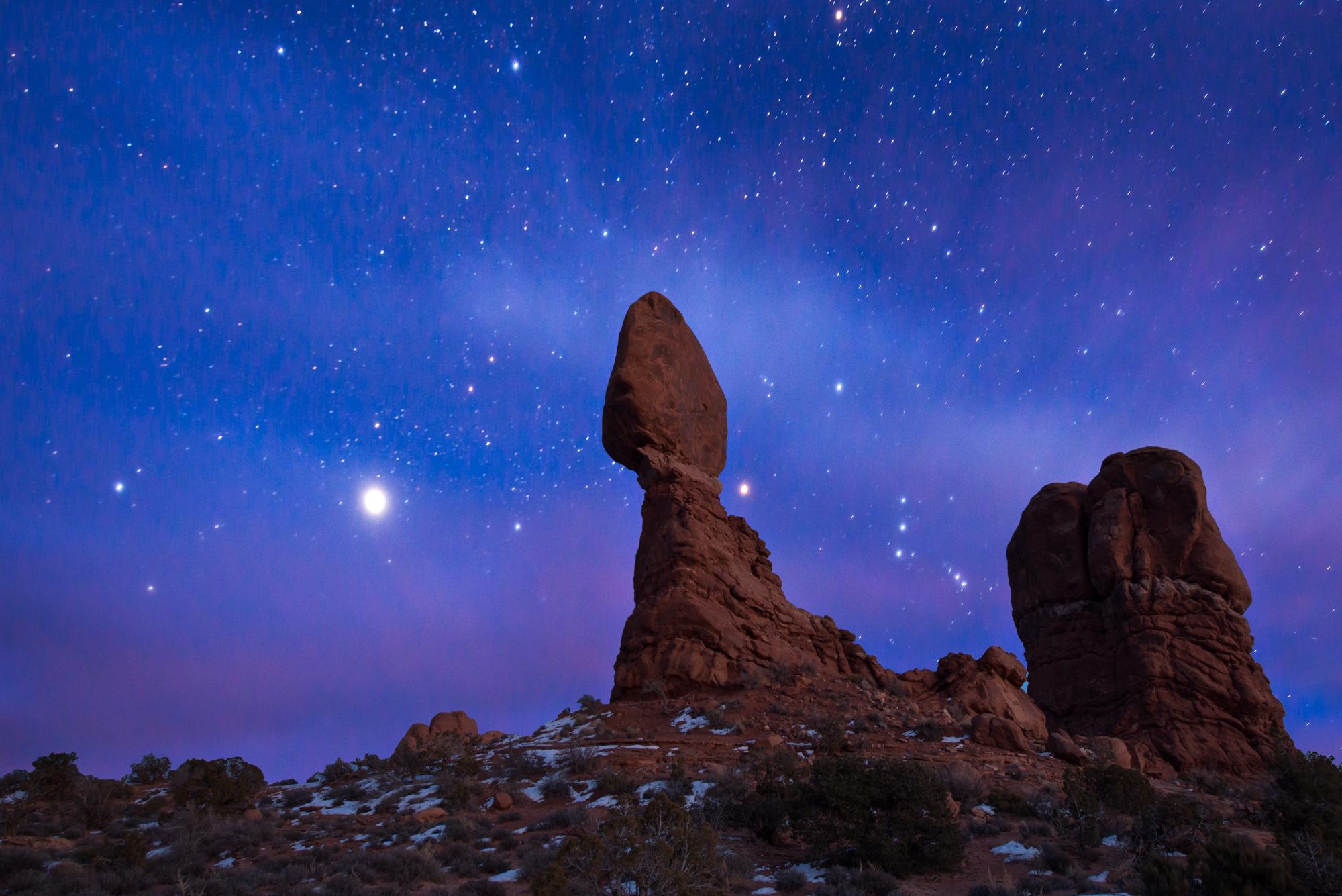 Star Gazing, Balanced Rock, Arches National Park