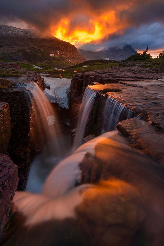 Triple Falls, Glacier NP, Montana