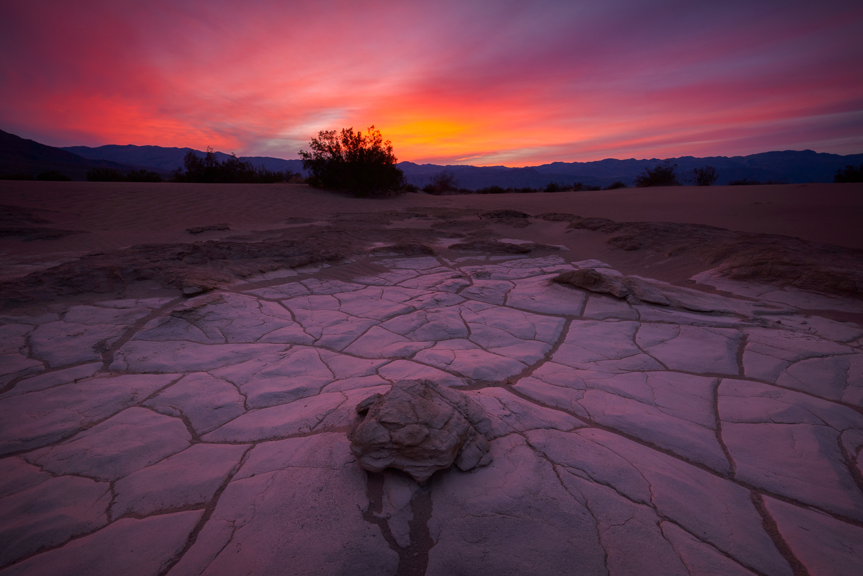 Cracked, Mesquite Sand Dunes, Death Valley, CA