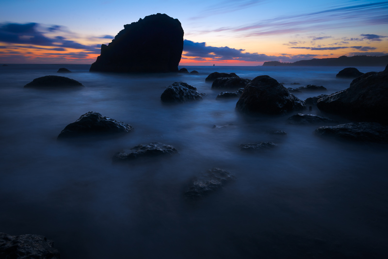 300 Seconds, Deep Twilight, Ruby Beach, Olympic National Park, Washington