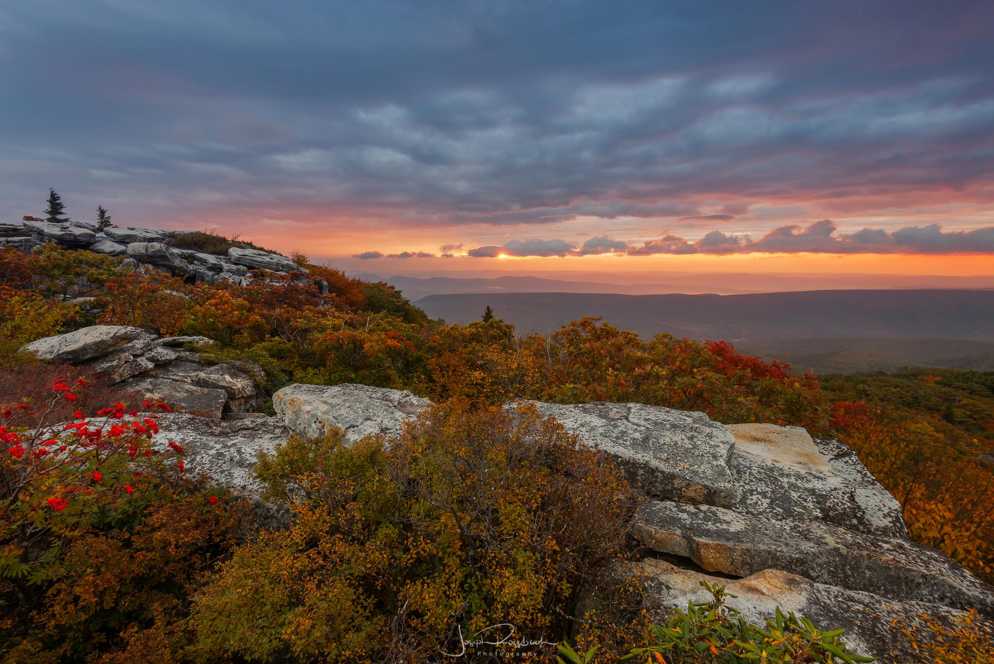 October Sunrise from Bear Rocks Preserve