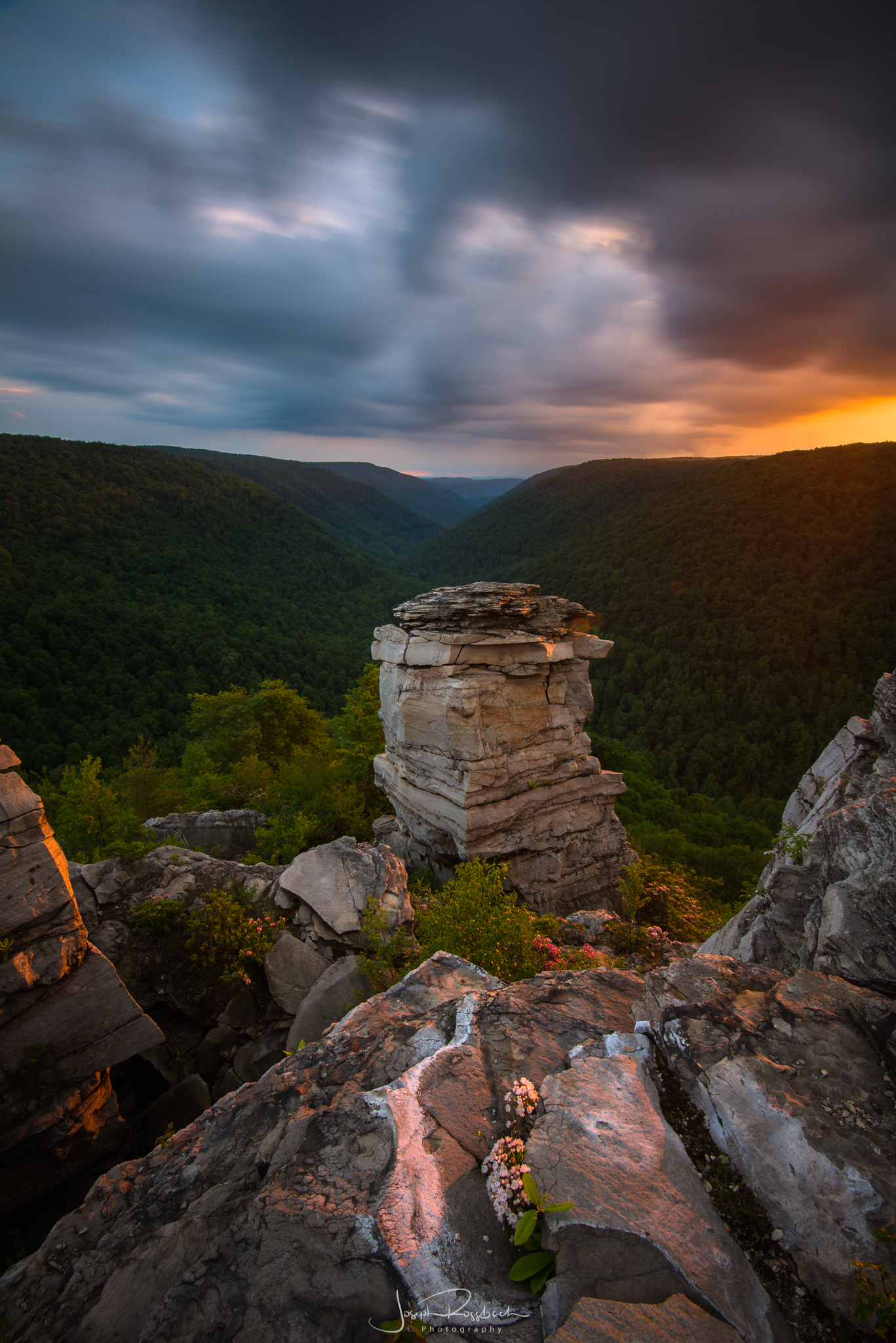 Stormy Sunset from Lindy Point, Blackwater Canyon, West Virginia