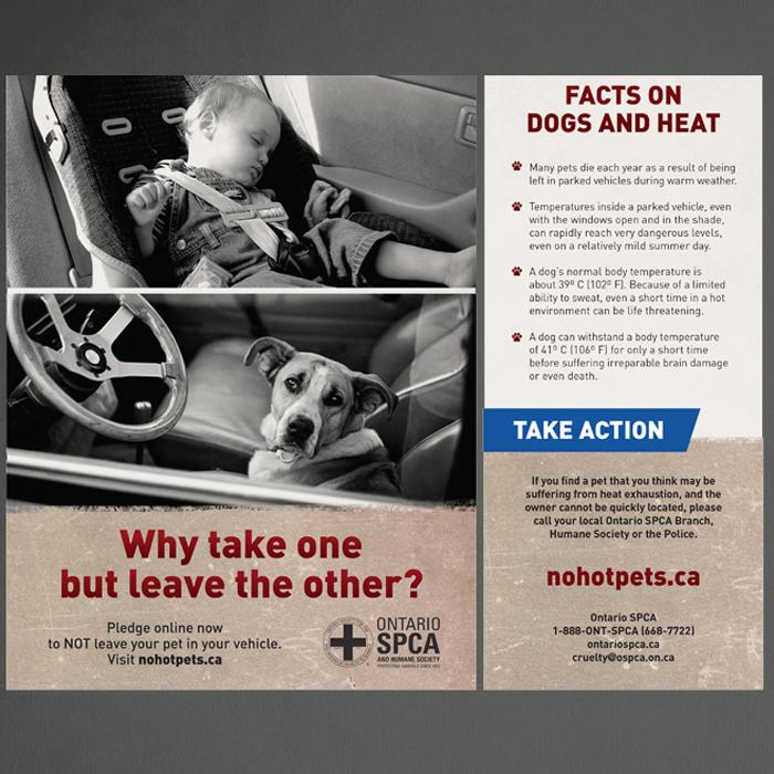 """Ontario SPCA """"No Hot Pets"""""""