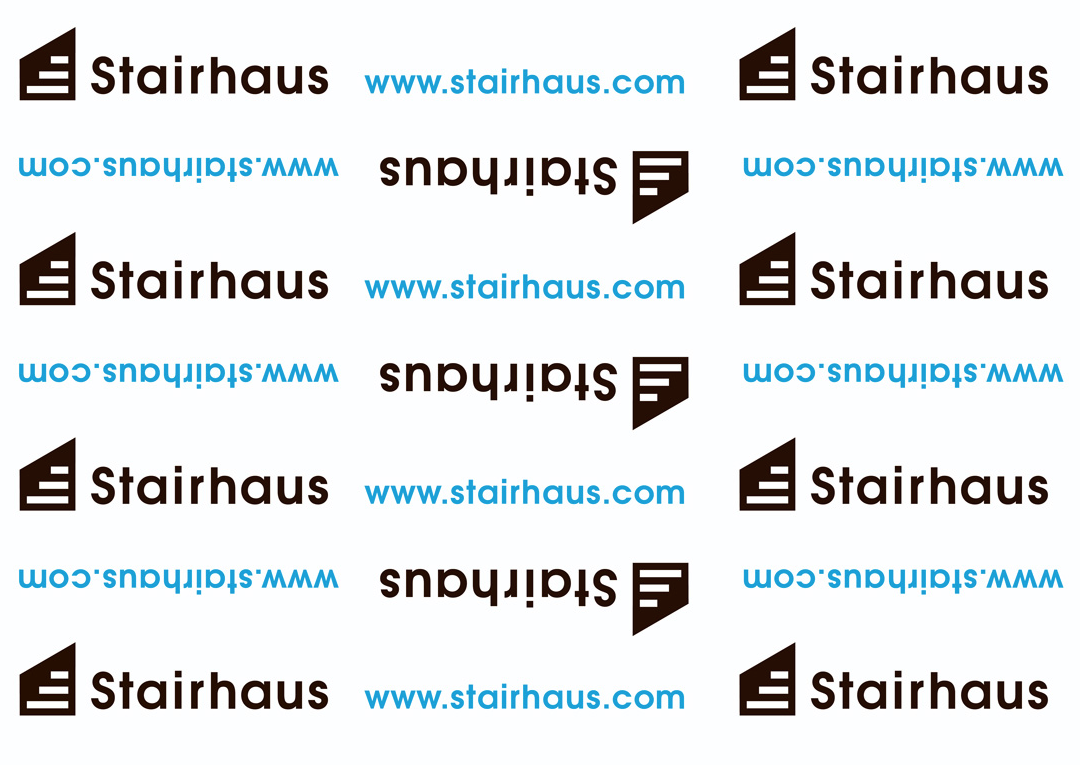 Stairhaus product paper wrap. Can also be used as gift wrap, like if youbuy your wife a new set of stairs or something.
