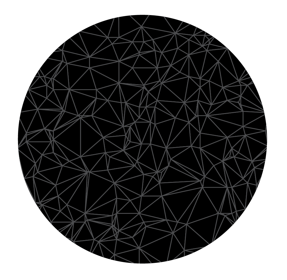The polygon outlines, created with a custom triangle generator program.