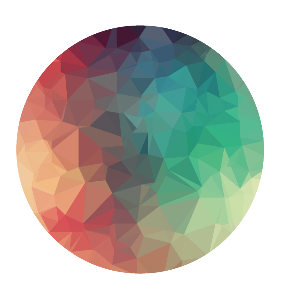 Finished colour polygons.