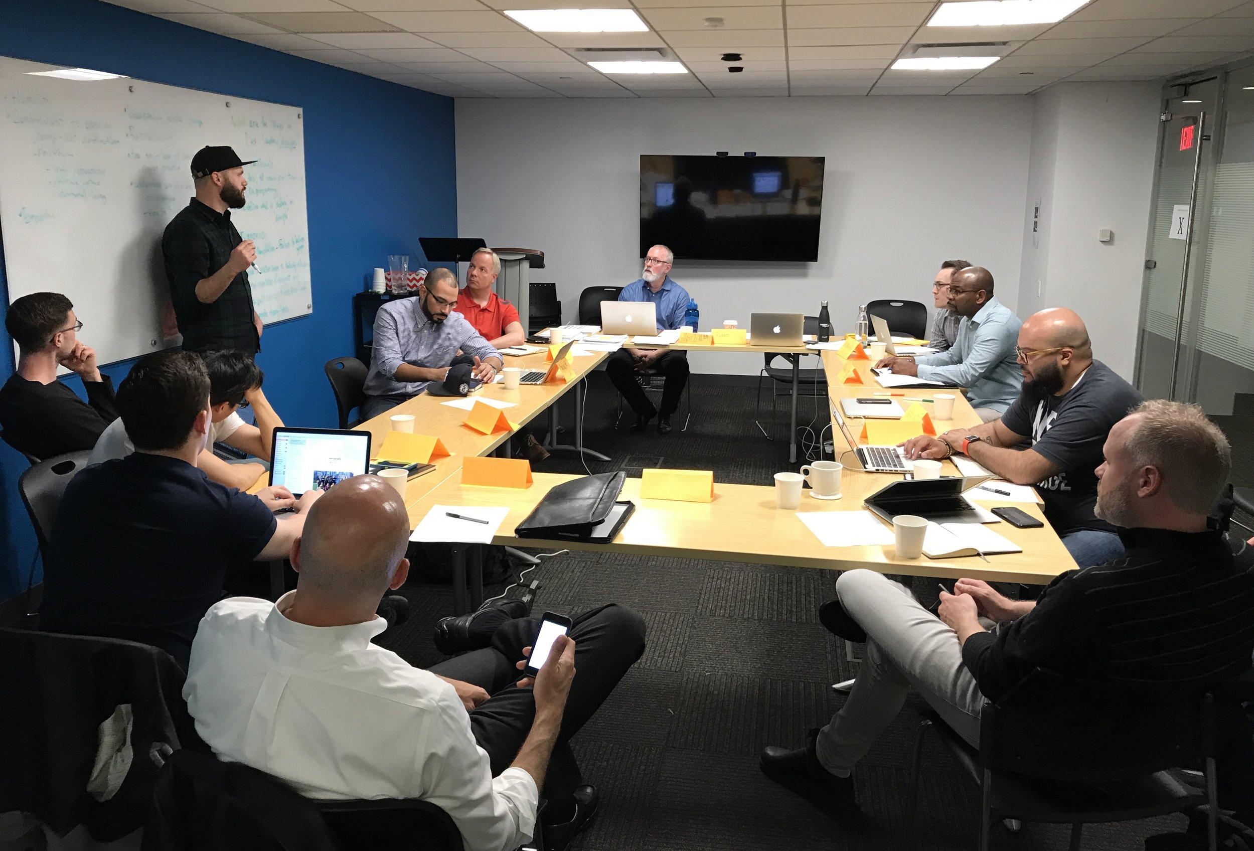Incubator training in New York City.