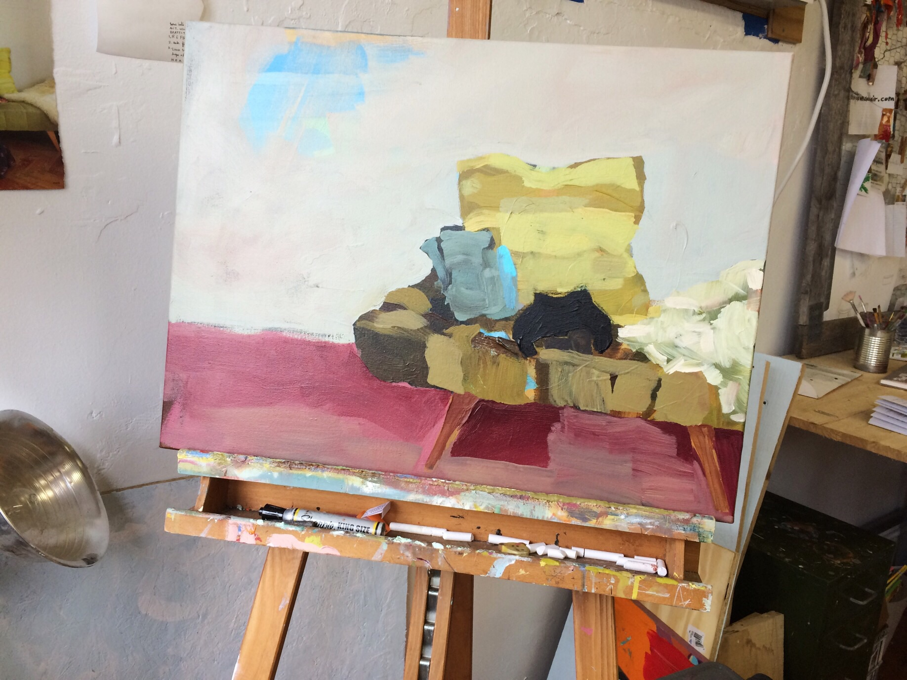 In the works.  Continuing to think through caretaking in the studio