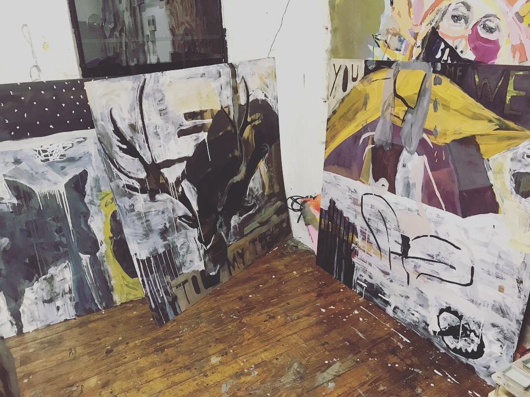 Studio works in progress