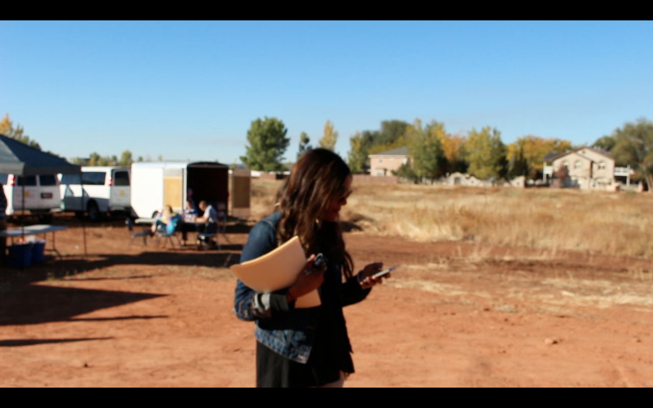 Me strolling the grounds of the new community center in Colorado City