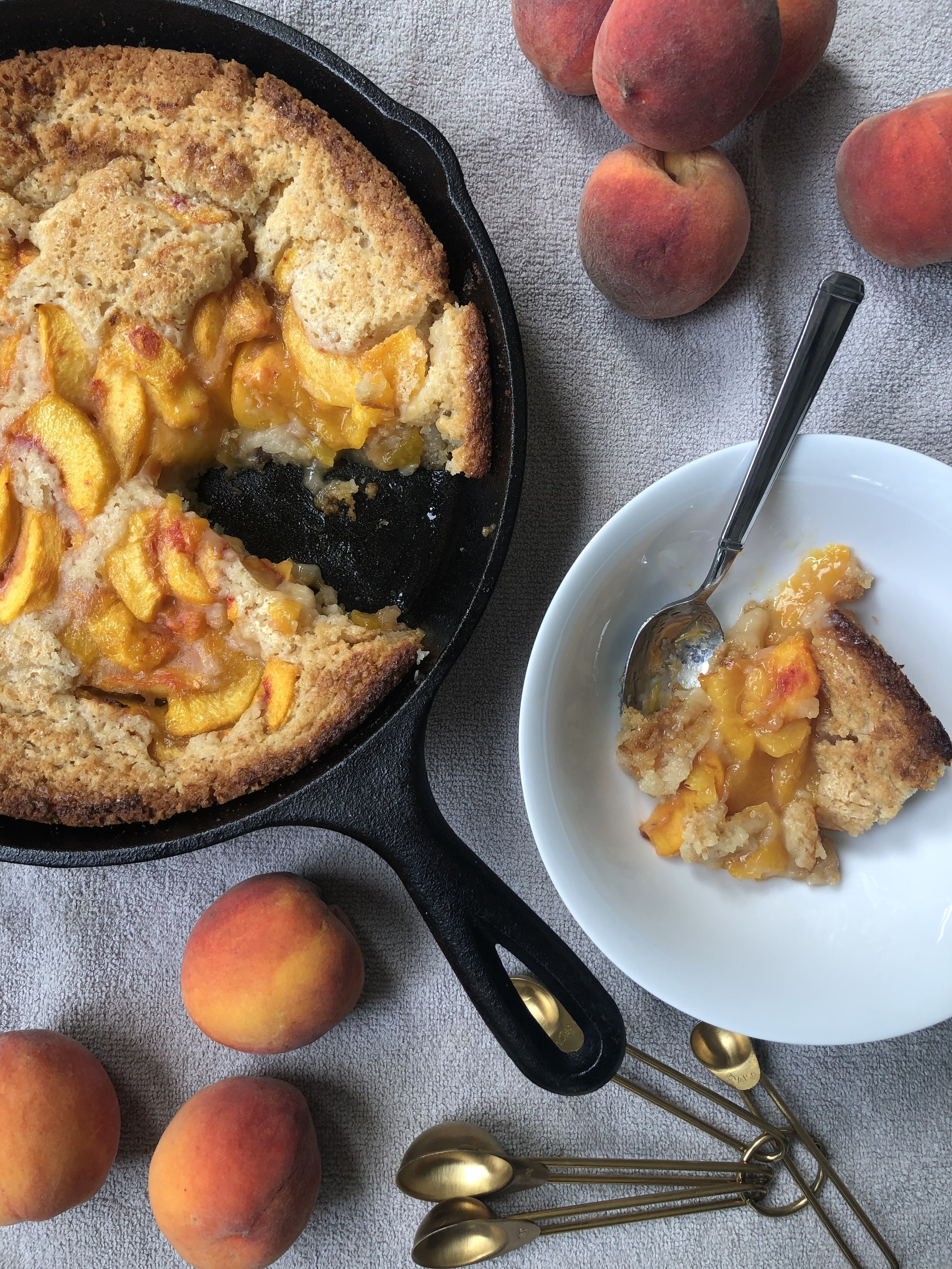 the peach truck 's peach and blueberry cobbler recipe without blueberries cause no