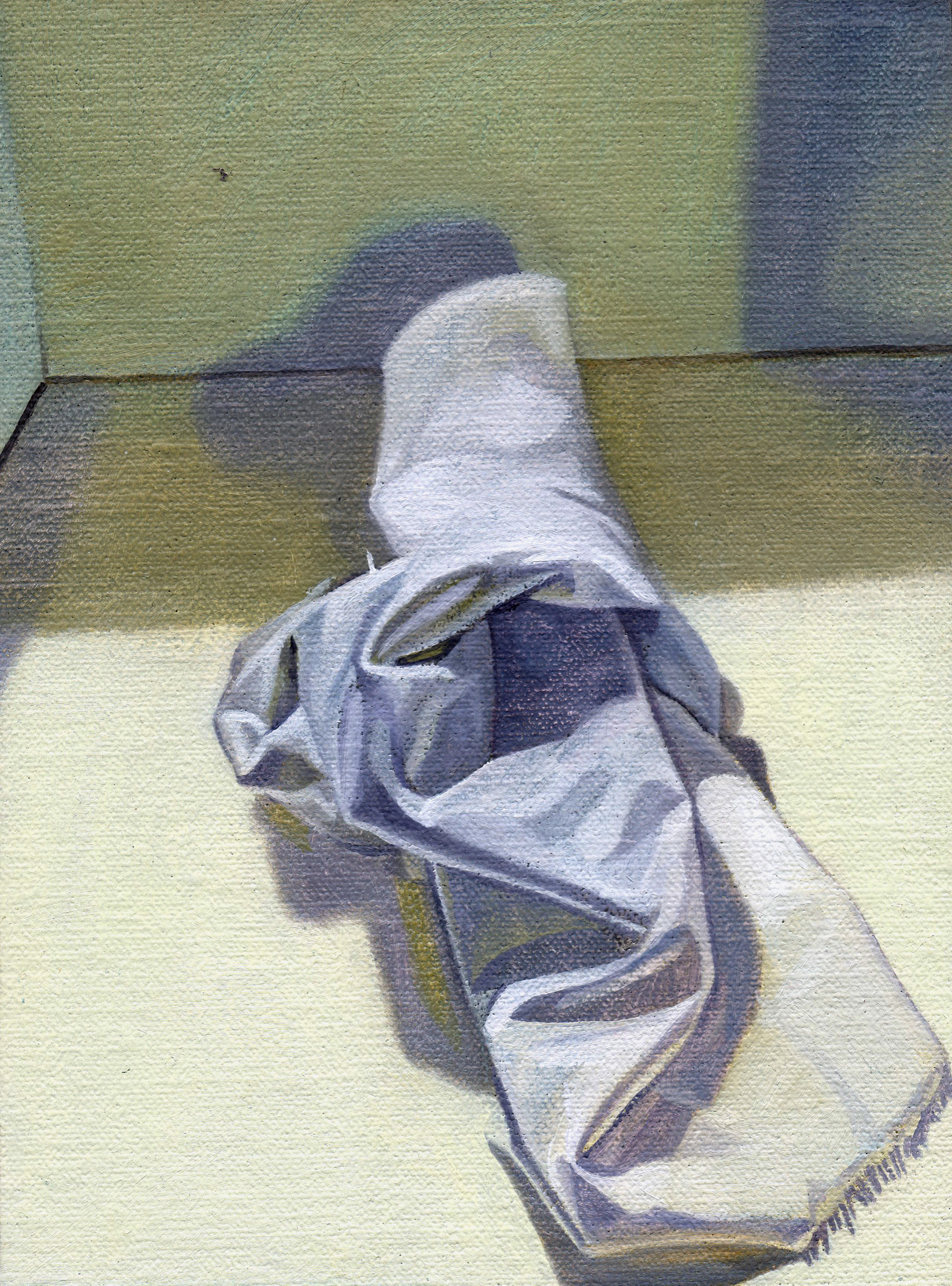 The Hospice (Green), 2014  oil on linen, 8 x 6in.