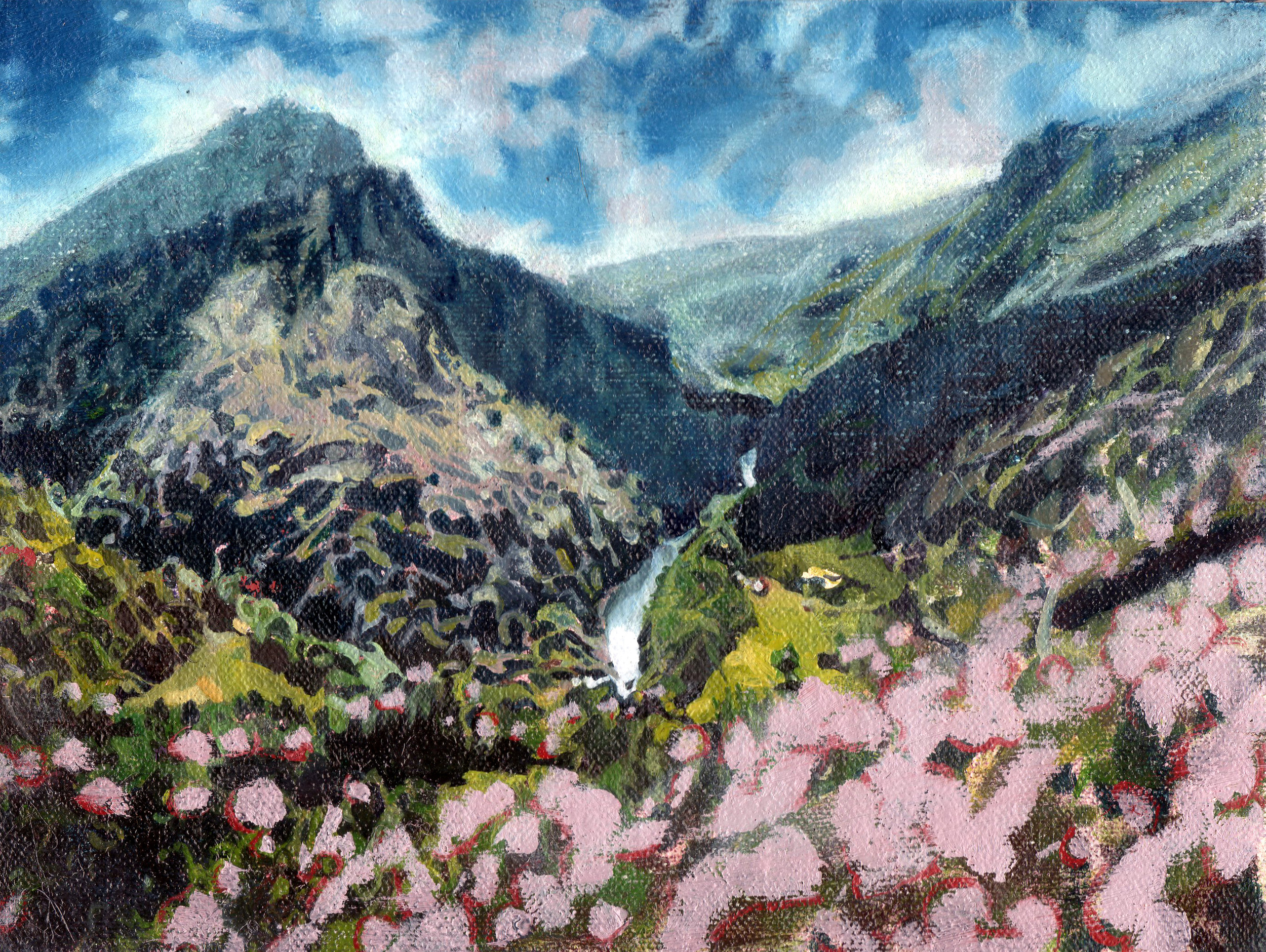 Foča, Bosnia, 2014,  oil on linen,   6 x 8in.
