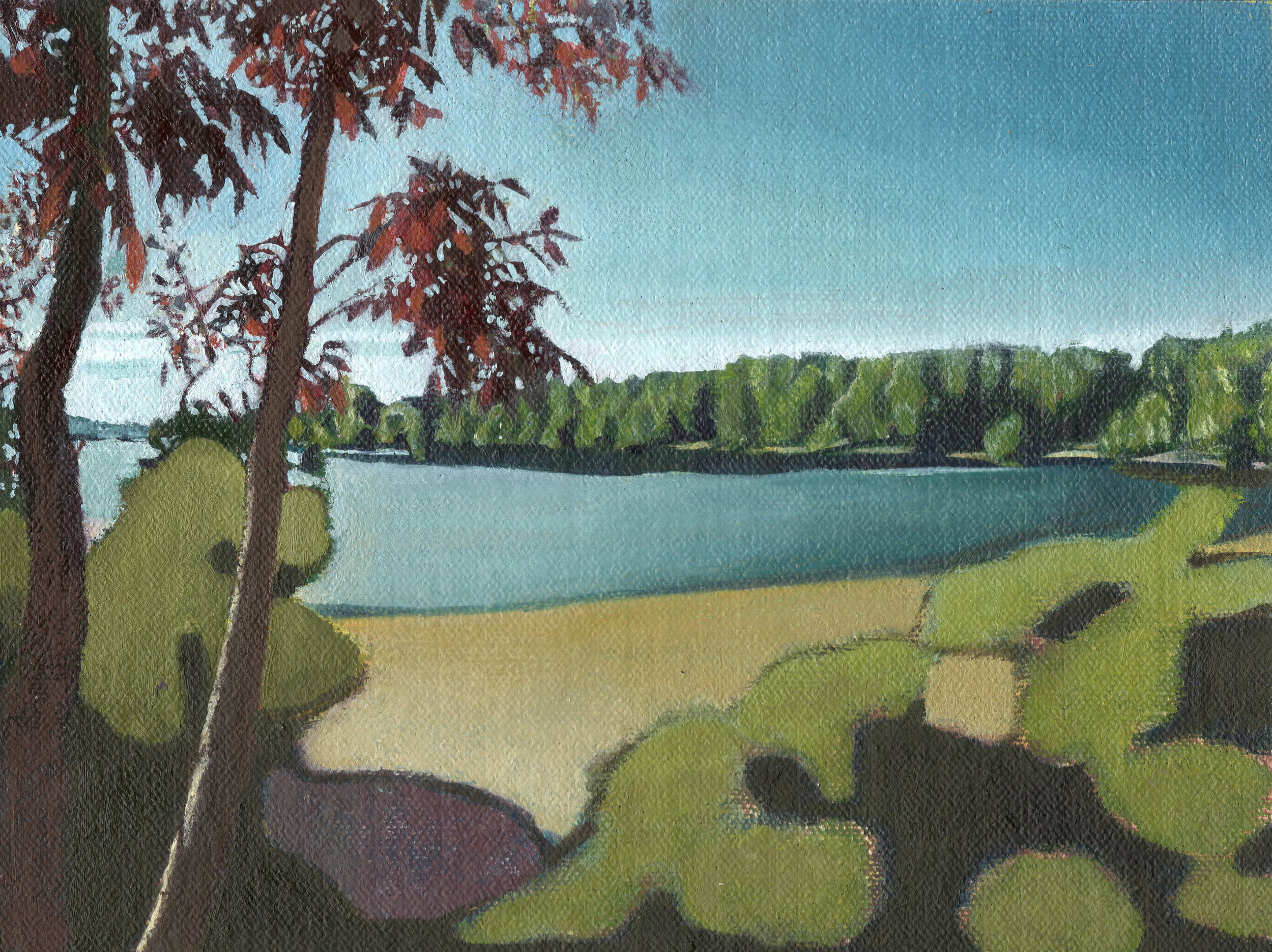 Vukoar, Croatia, 2014,  oil on linen,  6 x 8in.